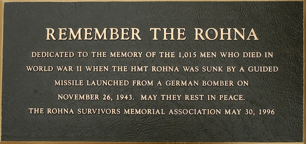 Rohna Memorial Plaque